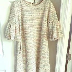 LOFT Small Multi-color summer tweed shift dress 🌸